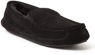 Dearfoams Men's Genuine Suede Driver Moccasin Slippers