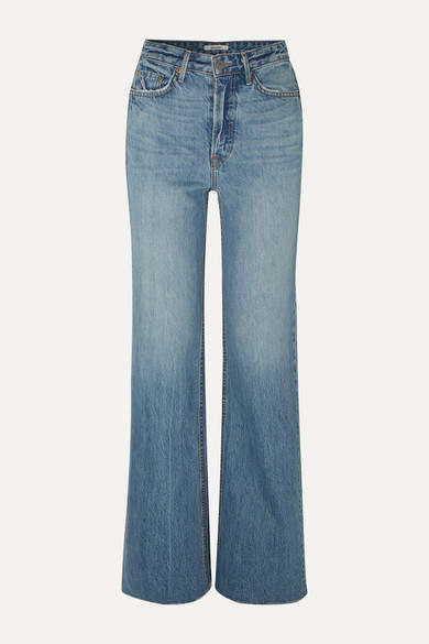 GRLFRND Carla High-rise Flared Jeans - Mid denim