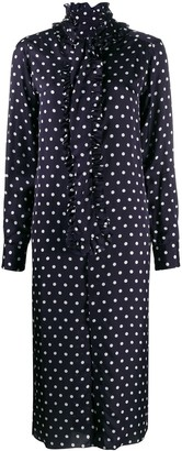 Plan C Polka Dot Shirt Dress