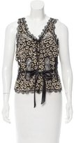 Ungaro Lace-Trimmed Abstract Top