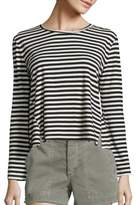 Amo Twist Striped Cotton Tee