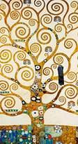 Gustav 1art1 Posters Klimt Poster Art Print - L albero Della Vita (39 x 20 inches)