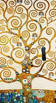 Gustav 1art1 Posters Klimt Poster Art Print - The Tree Of Life (28 x 20 inches)