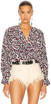 Isabel Marant Amba Top in Black & Pink | FWRD