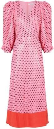 Olivia Rubin Polka Dot Imogen Midi Dress