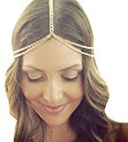 TONSEE Women Fashion Metal Head Chain Jewelry Headband Head Piece Hair Band