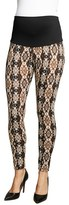 Maternal America Women's 'Belly Support' Ikat Print Maternity Leggings