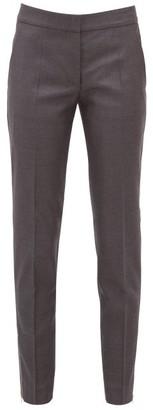 Stella McCartney Vivian Zip-cuff Wool Trousers - Womens - Grey