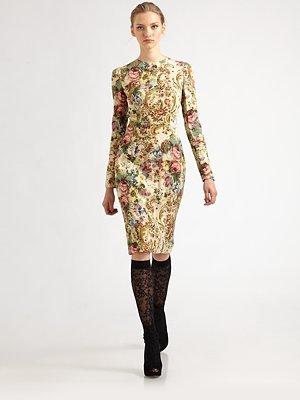 Dolce & Gabbana Tapestry Dress