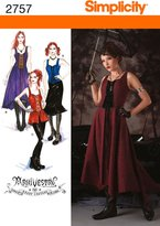 Simplicity Sewing Pattern 2757 Misses' Costumes
