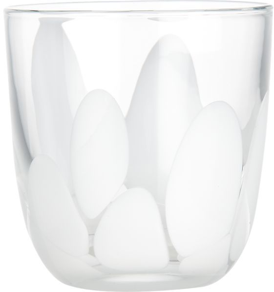 FRIDA White Double Old-Fashioned Glass