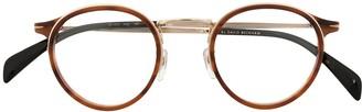 David Beckham Tortoiseshell Round Frame Glasses