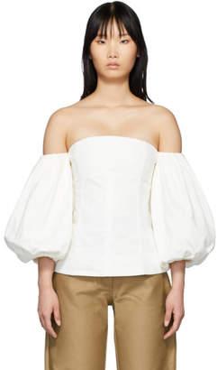 Edit SSENSE Exclusive White Off-The-Shoulder Blouse