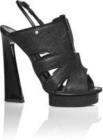 Proenza Schouler Accessories Black Printed Lizard Cut Heel