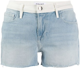 Frame Le Grand Garcon Colorblock Shorts