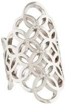 Catherine Malandrino Diamond Circle Linked Gladiator Ring