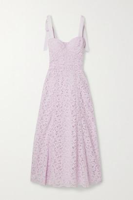 Jonathan Simkhai Grosgrain-trimmed Corded Lace Midi Dress - Lilac