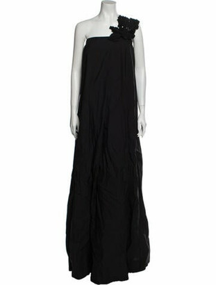 Brunello Cucinelli One-Shoulder Long Dress w/ Tags Black