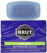Brut 2 Piece Revolution Body and Face Soap Bars, 0.52 Pound