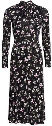 Erdem Nolene Daffodil Bouquet Midi Dress