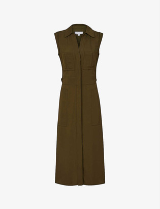 Reiss Effie woven midi dress