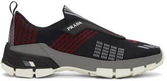 Prada Black Crossection Slip-On Sneakers