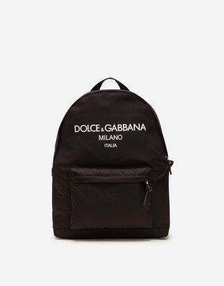 Dolce & Gabbana Nylon Backpack With Rubberized Logo