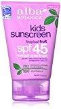 Alba Botanica, Kids Sunscreen SPF 45, 4 Ounce