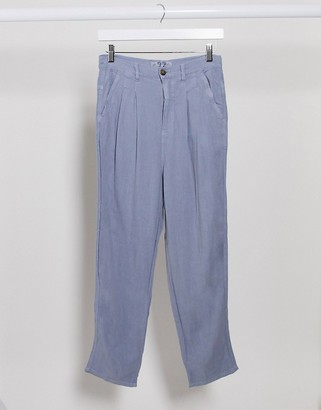 Free People Faded Love high waisted cargo trouser in blue