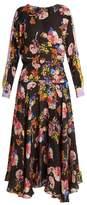 Preen by Thornton Bregazzi Imogen floral-print hammered-silk dress