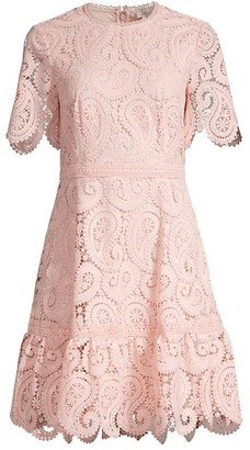 Shoshanna Kiera Lace Fit & Flare Dress