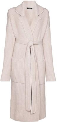 Joseph Tie-Waist Long-Line Cardi-Coat