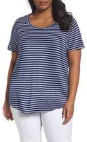Sejour Plus Size Women's Shirttail Hem Tee