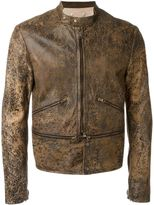 Golden Goose Deluxe Brand distressed jacket - men - Cotton/Lamb Skin - S