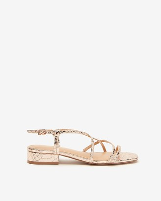 Express Strappy Square Toe Heeled Sandals