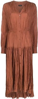 Joseph Pleated Button-Down Dress