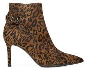 Naturalizer Leopard-Print Calf Hair Booties
