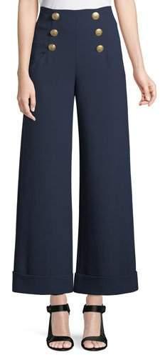 Alice + Olivia Ferris Cuffed Wide-Leg Sailor Pants