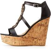 Charlotte Russe Bamboo Beaded Wedge Sandals