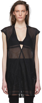 Rick Owens Black Champion Edition Mesh Dylan Tank Top