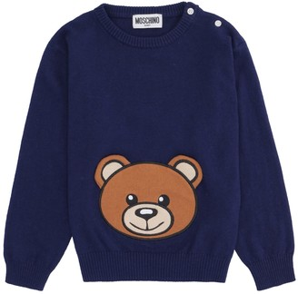 Moschino Crew-neck Cotton Blend Sweater