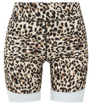 The Upside Water Leopard-print Stretch-jersey Shorts - Womens - Leopard