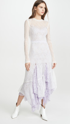 ANAÏS JOURDEN White Duo Lace Midi Dress