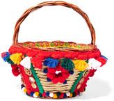 Dolce & Gabbana Embellished wicker basket