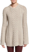 Theory Lewens Loryfelt Cable-Knit Sweater