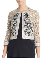 Kay Unger Sequined Lace Jacket