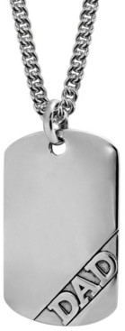 Sutton by Rhona Sutton Sutton Sterling Silver Dad Dog Tag Pendant Necklace