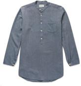 Oliver Spencer - Panarea Grandad-collar Cotton-jacquard Shirt