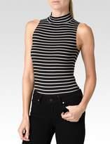 Paige Makenna Bodysuit - Black White Stripe