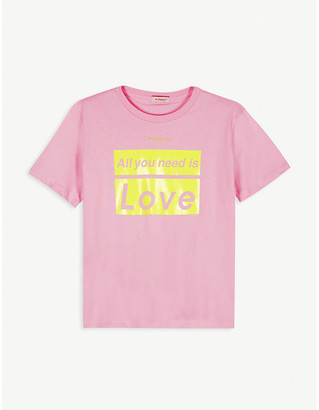 Pinko All You Need is Love cotton T-shirt 8-16 years
